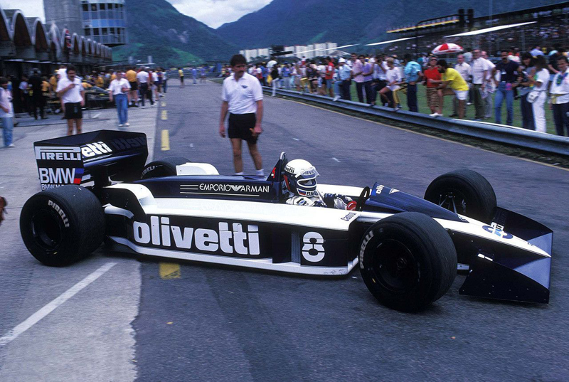 A revolucionária Brabham BT55 em Jacarepaguá. Foto: Divulgação