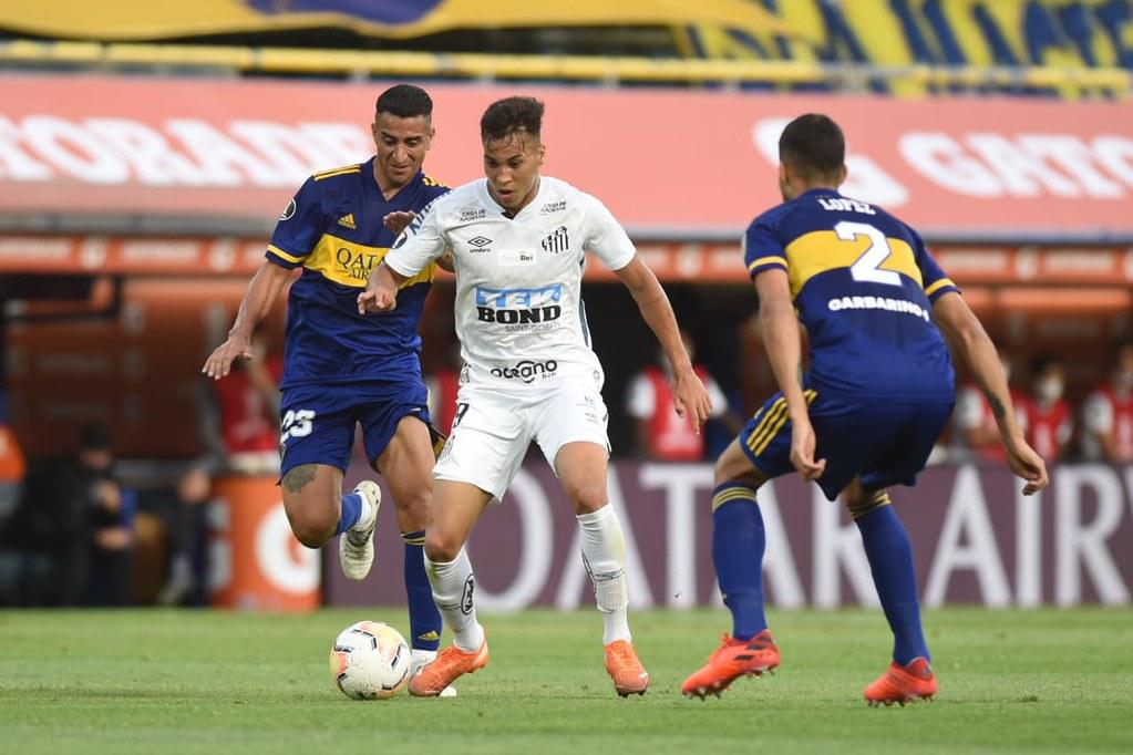 Peixe empatou em 0 a 0 na partida de ida disputada na Bombonera. Foto: Ivan Storti/Santos FC