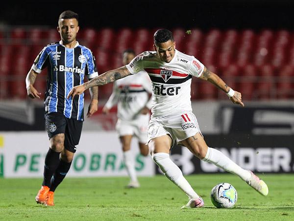 Artilheiro são-paulino desfalcou o Tricolor nos últimos quatro jogos. Foto: Rubens Chiri/saopaulofc.net