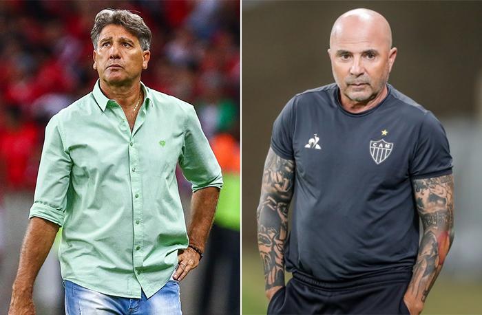 Fotos: Lucas Uebel/Grêmio e Bruno Cantini/Atlético-MG