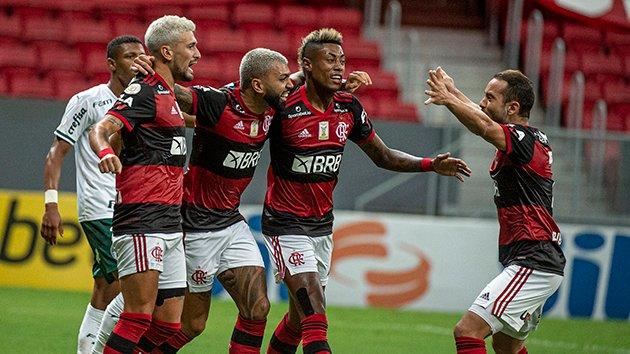 Rubro-Negro tem um jogo a menos que rivais na luta pelo título. Foto: Divulgação/Flamengo