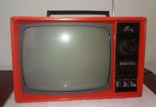 Em 1976, o GP do Japão em uma tela de 12 polegadas. Foto: Reprodução