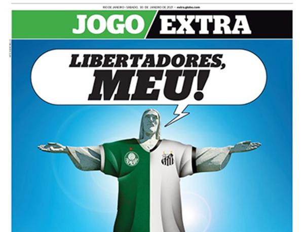 O carioca Extra destaca a final paulista. Foto: Reprodução