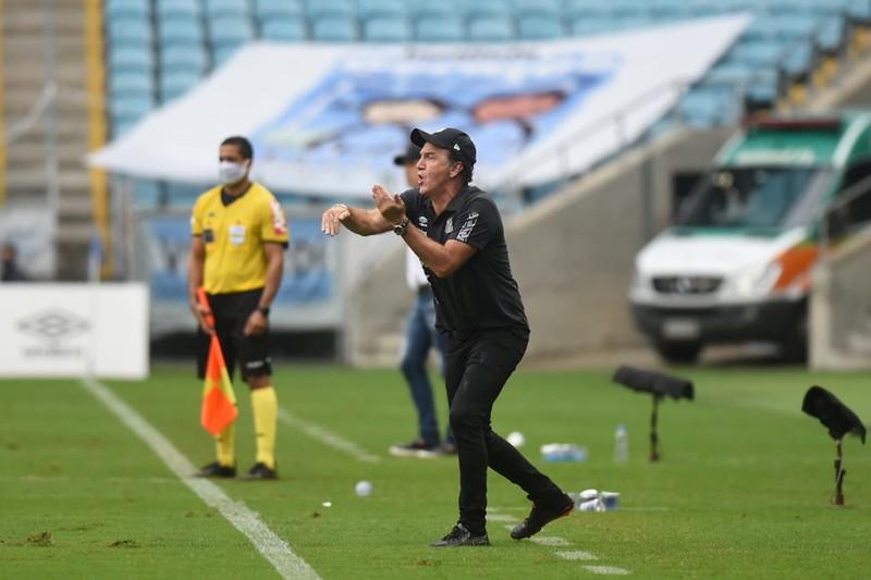 Treinador alvinegro tem vínculo com o Peixe até o fim de fevereiro. Foto: Ivan Storti/Santos FC