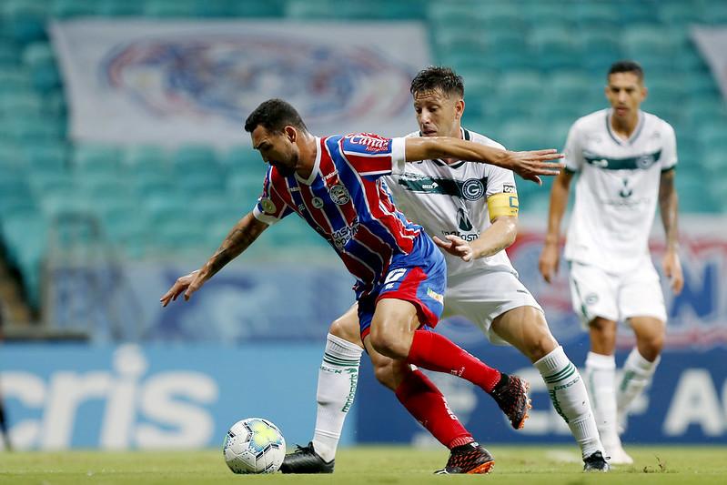 Gilberto marcou um dos gols do empate do Tricolor. Foto: Felipe Oliveira/EC Bahia
