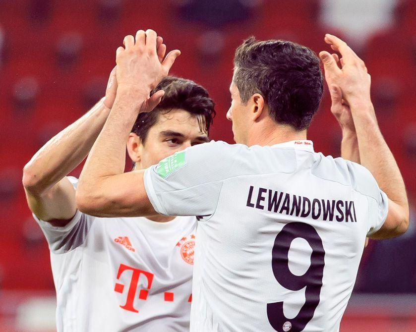 Melhor jogador do mundo em 2020, centroavante polonês marcou na vitória do time alemão. Foto: Twitter/Bayern de Munique