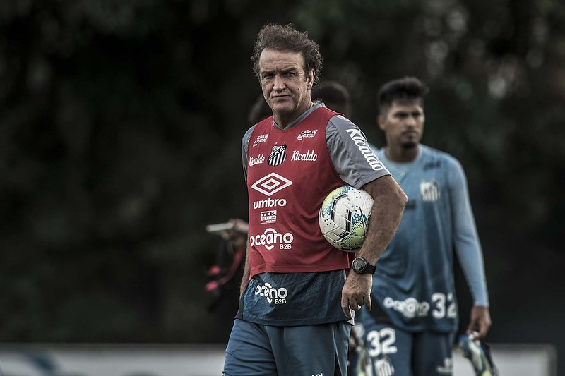 Treinador do Peixe é amigo de Tiago e conversou sobre o clube. Foto: Ivan Storti/Santos FC