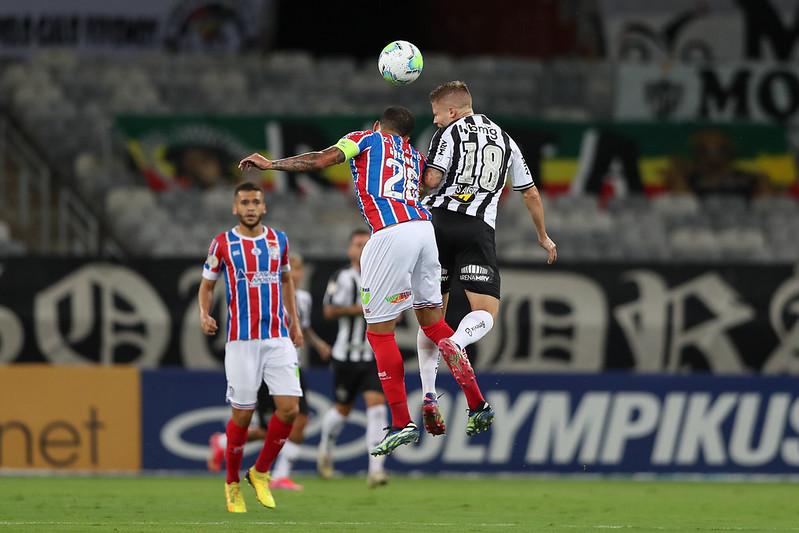Sasha marcou o gol atleticano na partida. Foto: Pedro Souza/Atlético