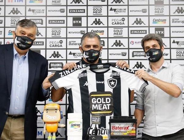 Marcelo Chamusca, novo técnico do Fogão. Foto: Twitter oficial do Botafogo