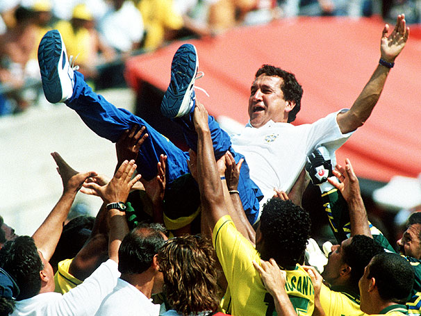 Saudado, após a conquista da Copa de 1994. Foto: Divulgação