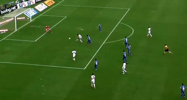 Equipe tricolor marcou com Alexandre Pato. Foto: TV UOL/Reprodução