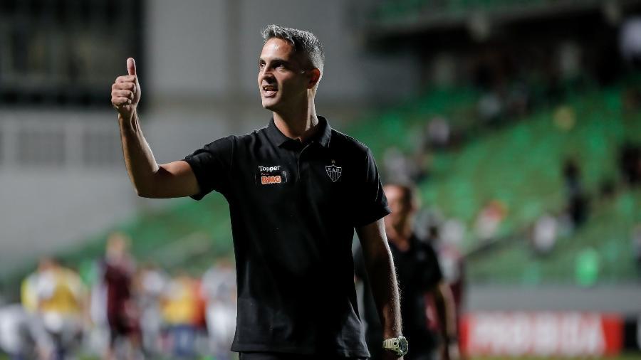 Treinador gostou do desempenho da equipe contra o CSA. Foto: Bruno Cantini/Atlético-MG
