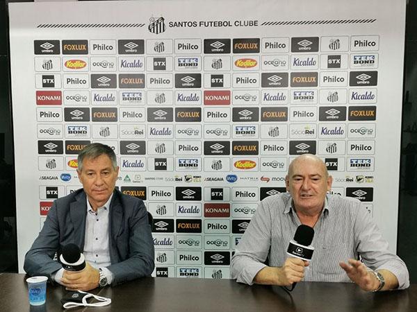 Presidente santista destacou que precisará reduzir a folha salarial do clube para acertar as contas. Foto: Guilherme Kastner/Santos FC