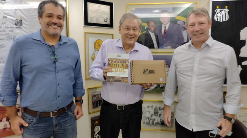 Milton Neves recebeu idealizadores do projeto. Foto: Kennedy Andrés/Portal TT
