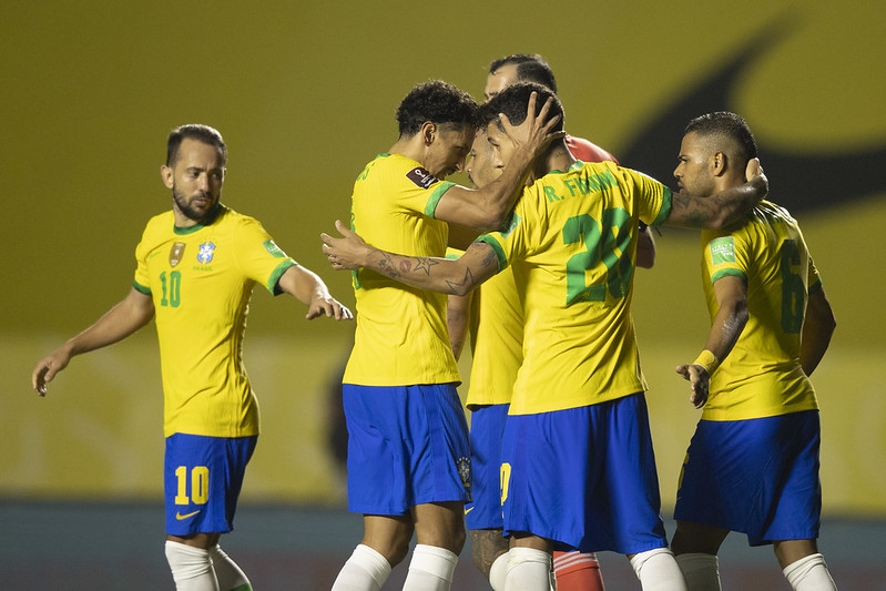 Líder da competição, Brasil jogaria contra Colômbia e Argentina. Foto: Lucas Figueiredo/CBF
