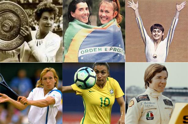 Atletas que fizeram e fazem a história do esporte. Fotos: Divulgação