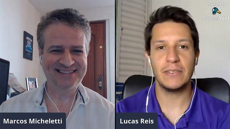 Jornalistas do site de Milton Neves debateram diversos temas. Reprodução