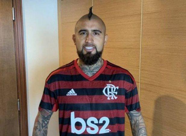 Vidal gosta muito do Mengão, destacou o lateral brasileiro. Foto: Reprodução
