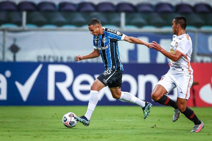 Equipe gaúcha definiu a partida na primeira etapa. Foto: Lucas Uebel/Grêmio