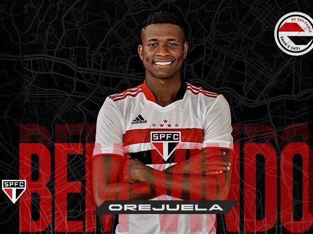 Jogador colombiano pertencia ao Cruzeiro e assinou vínculo até 2025 com o Tricolor. Foto: Divulgação