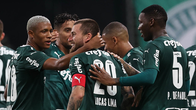 Verdão fez 3 a 0 e conseguiu a primeira vitória no Paulistão. Foto: Cesar Greco