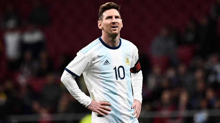 Messi, durante partida entre Argentina e Venezuela
