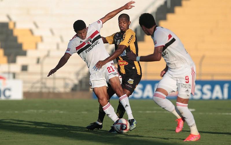 Tricolor vinha de três jogos sem derrota em 2021. Foto: Rubens Chiri/saopaulofc.net