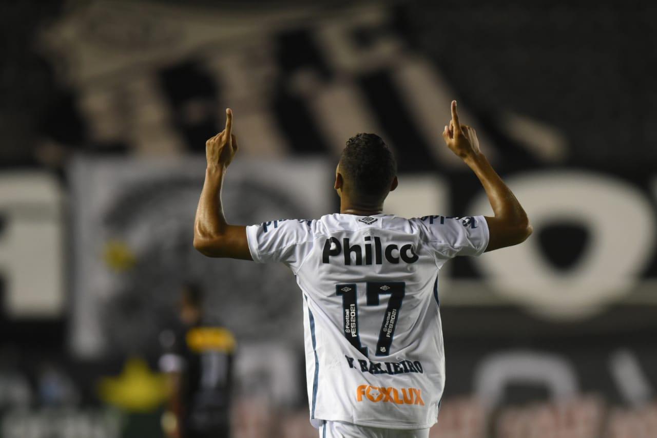 Balieiro marcou o segundo gol do Peixe na partida. Foto: Ivan Sorti/Santos FC