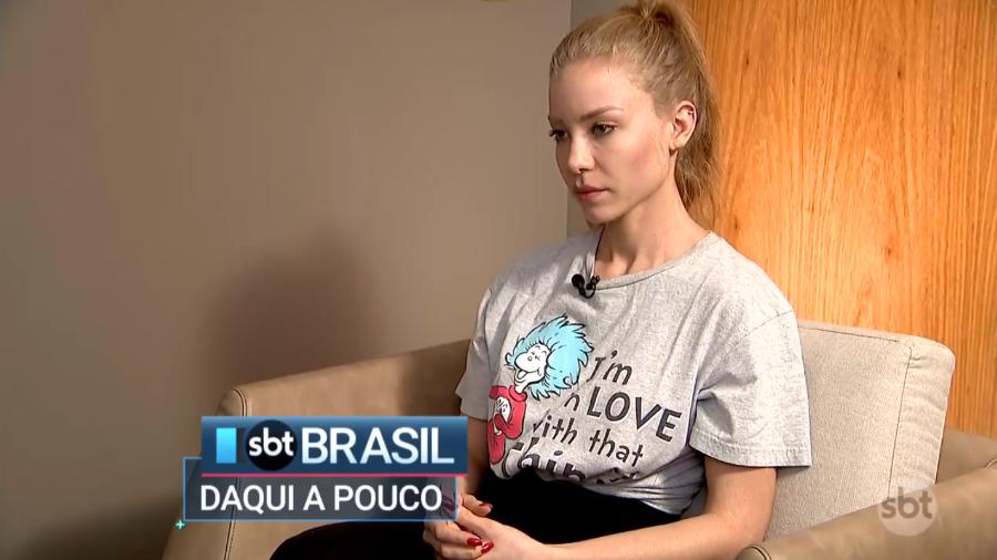 Mulher que acusa Neymar de estupro concedeu entrevista ao SBT. Foto: Reprodução/SBT