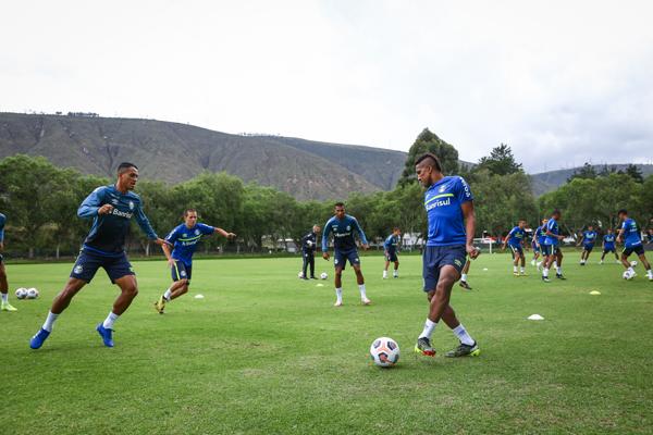 Treino da equipe gaúcha em Quito. Foto: Lucas Uebel/Grêmio FBPA