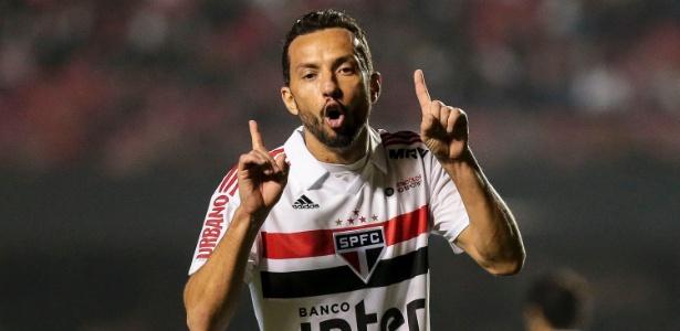 Nenê fez apenas um dos seus oito gols no Brasileirão no segundo turno da competição. Foto: Ale Cabral/AGIF