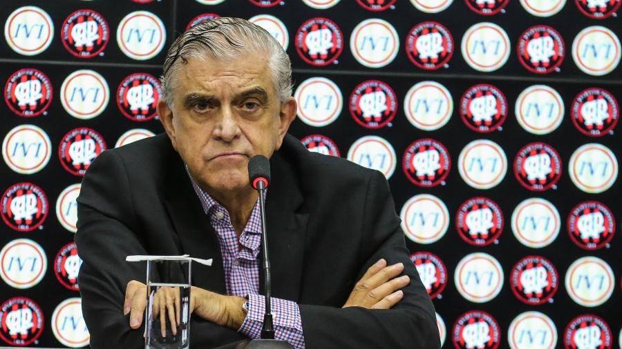 Mario Celso Petraglia, presidente do Conselho Deliberativo do Athletico. Foto: Geraldo Bubniak/AGB/Folhapress
