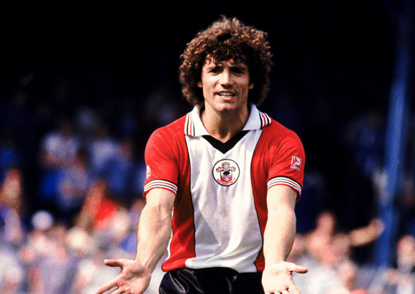 Atacante defendia o Southampton na temporada 81/82. Foto: Divulgação