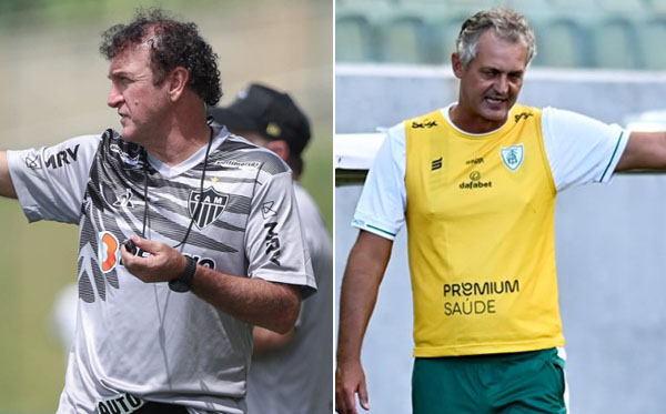 Cuca e Lisca se encontram neste domingo. Fotos: Pedro Souza e Mourão Panda