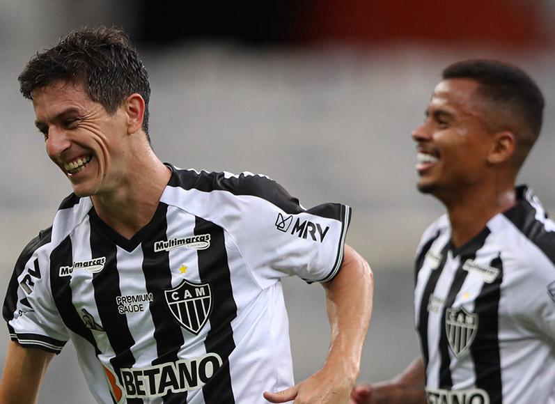 Nacho marcou dois dos três gols do Galo contra o América. Foto: Bruno Cantini/Atlético-MG