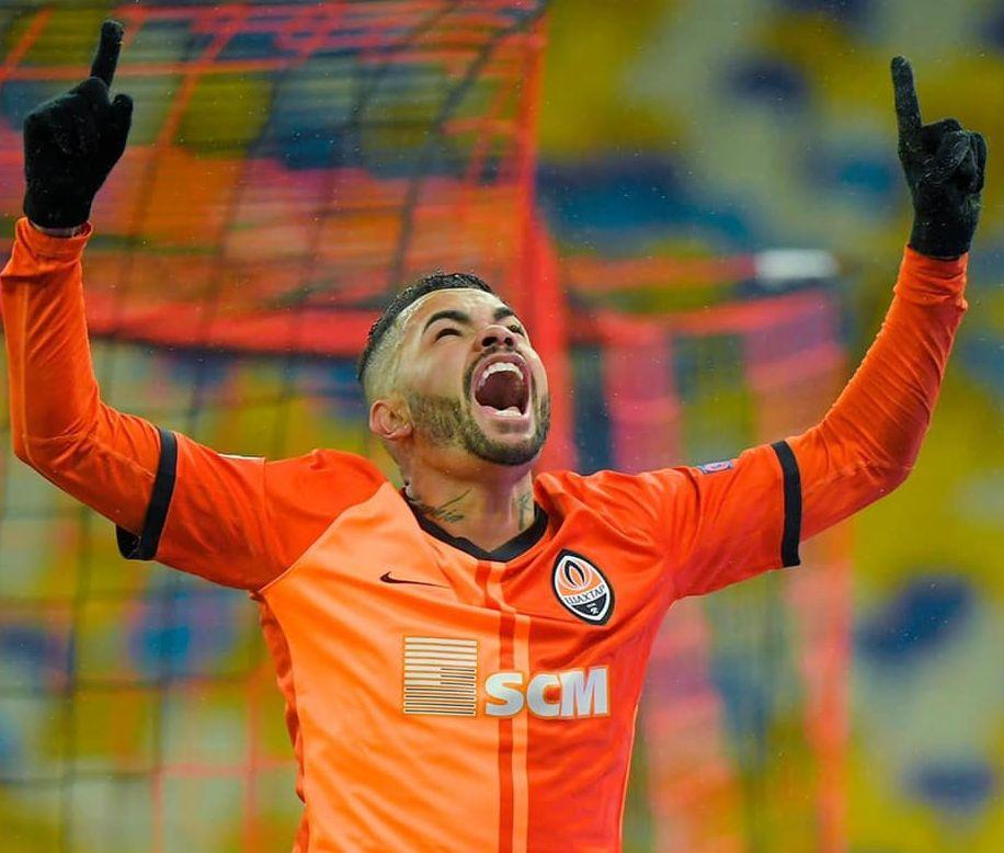 Atacante brasileiro tem contrato até novembro com o Shakhtar. Foto: Facebook/Reprodução
