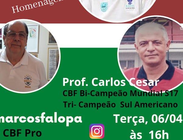 A Live contará ainda com uma homenagem ao ex-técnico Sebastião Araújo
