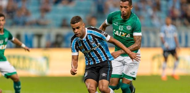 Alisson foi o melhor do Grêmio contra o Goiás, na Arena, pela Copa do Brasil