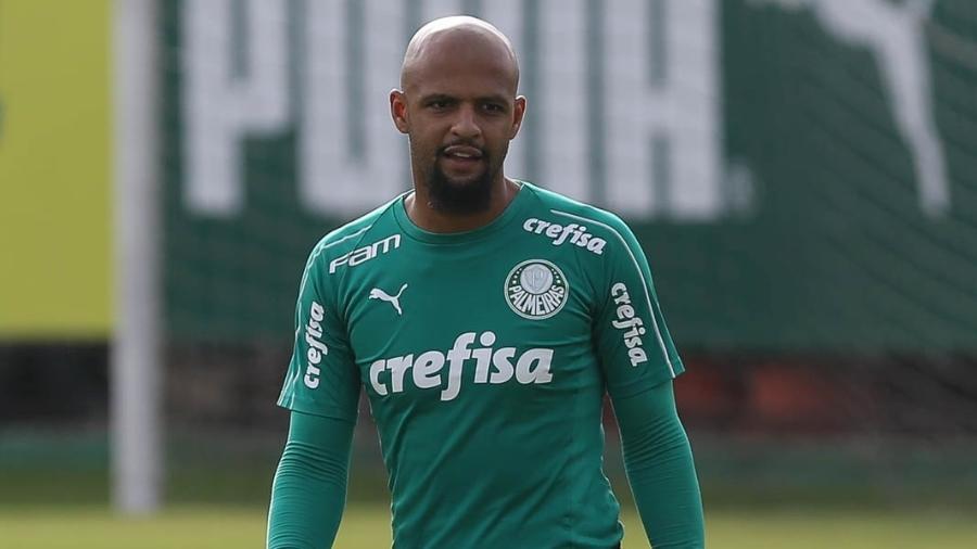 Felipe Melo é titular absoluto de Felipão e destaque do Palmeiras. Foto: Cesar Greco/Ag. Palmeiras/Divulgação