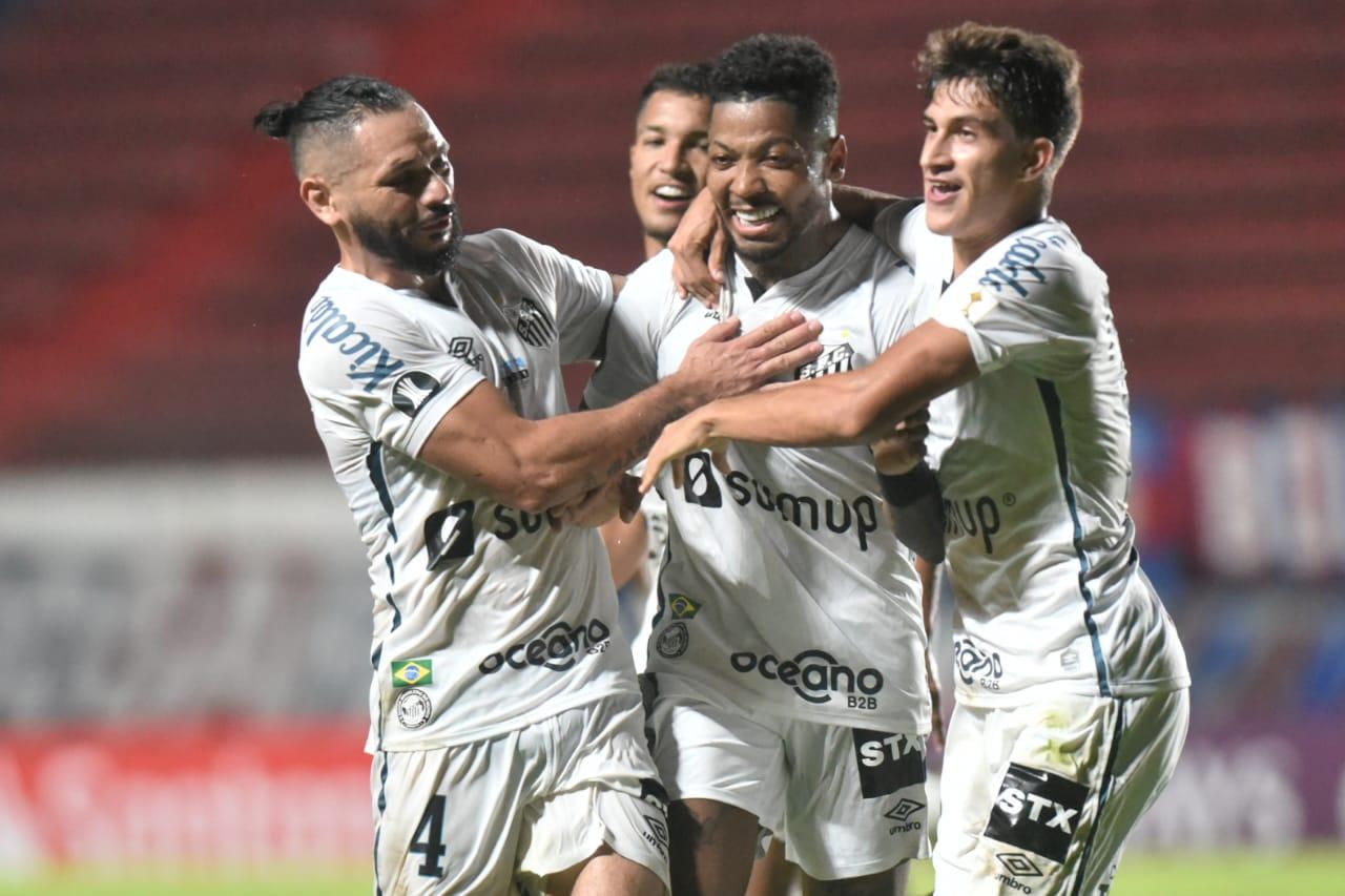 Marinho marcou um dos gols do Peixe na vitória na Argentina. Foto: Ivan Storti/Santos FC