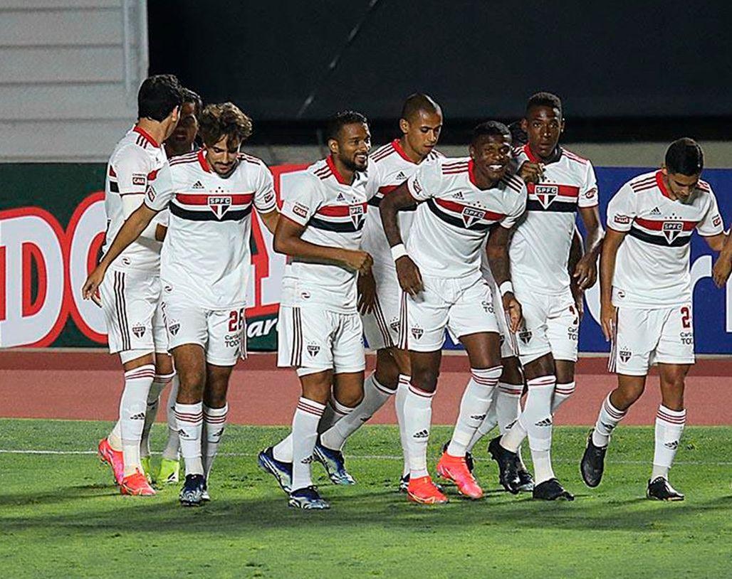 Tricolor fez 5 a 1 sobre o Azulão e venceu sem complicações. Foto: Twitter/São Paulo