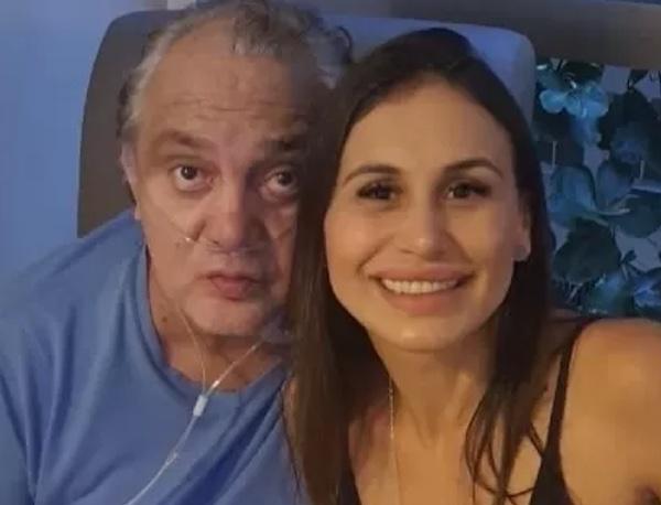 Branco ao lado da esposa, Cleo Pozzebon. Foto: Reprodução/Instagram