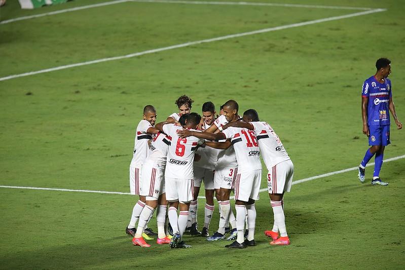 Tricolor volta a campo 48 horas depois de vencer o São Caetano. Foto: Rubens Chiri/saopaulofc.net