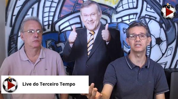 João Antonio e Frank Fortes estão de segunda a sexta na Live do Terceiro Tempo. Foto: Reprodução