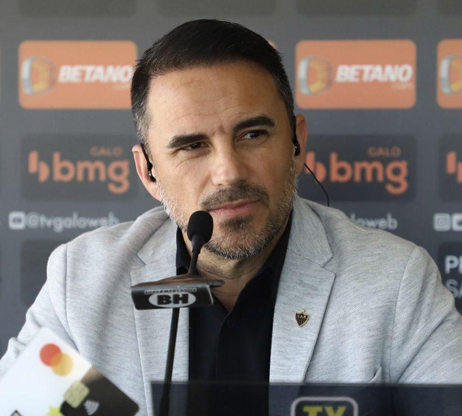 Dirigente do Galo rasgou elogios ao trabalho do treinador. Foto: Divulgação