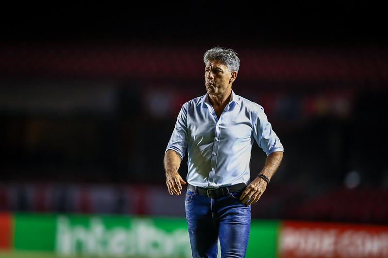 Treinador deixa o clube após queda na Pré-Libertadores. Foto: Lucas Uebel/Grêmio FBPA