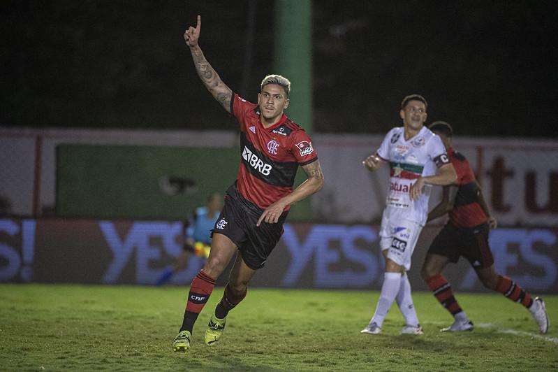 Pedro marcou duas vezes para o Mengão. Foto: Alexandre Vidal/Flamengo