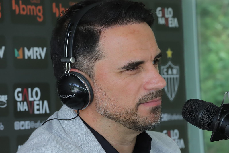 Executivo do Galo trabalhou no Grêmio na primeira década dos anos 2000. Foto: Pedro Souza/Atlético