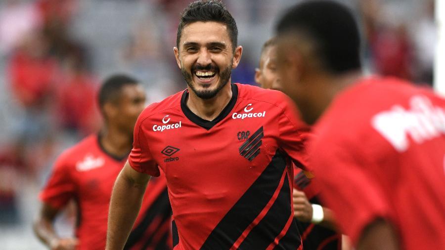Marquinho defendeu o Furacão no Campeonato Paranaense. Foto: Miguel Locatelli/Athletico Paranaense