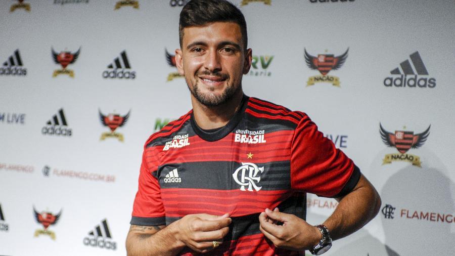 Arrascaeta foi a contratação mais cara da história rubro-negra. Foto: Marcelo Cortes/Flamengo.com.br
